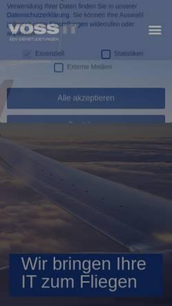 Vorschau der mobilen Webseite www.vossit.eu, Voss IT, Inh. Carsten Voss