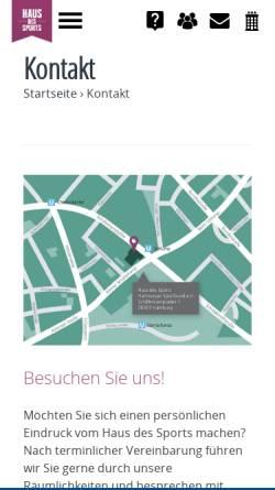 Vorschau der mobilen Webseite hausdessports.de, VHaus