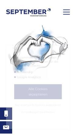 Vorschau der mobilen Webseite www.september-werbeagentur.de, September Werbeagentur