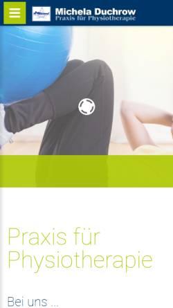 Vorschau der mobilen Webseite www.physiotherapie-duchrow.de, Praxis für Physiotherapie Duchrow in Rathenow