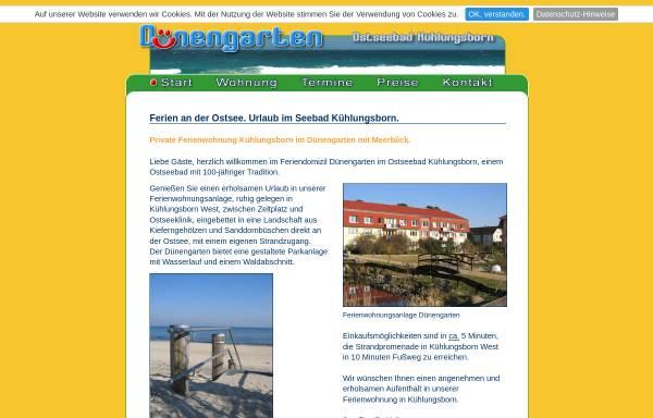 Vorschau von www.duenengarten.com, Ferienwohnung Dünengarten
