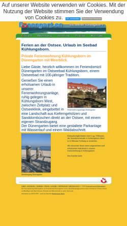 Vorschau der mobilen Webseite www.duenengarten.com, Ferienwohnung Dünengarten