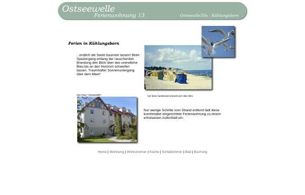 Vorschau von ostseeallee35a.de, Ferienwohnung im Haus Ostseewelle