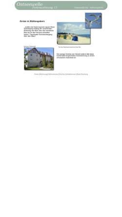 Vorschau der mobilen Webseite ostseeallee35a.de, Ferienwohnung im Haus Ostseewelle
