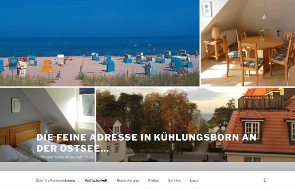 Vorschau von www.ferienwohnung-meeresblick.de, Ferienwohnung im Haus Sonnenburg