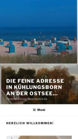 Vorschau der mobilen Webseite www.ferienwohnung-meeresblick.de, Ferienwohnung im Haus Sonnenburg