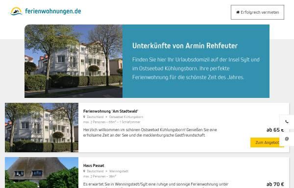 Vorschau von www.fewo-seite.de, Ferienwohnungen Rehfeuter