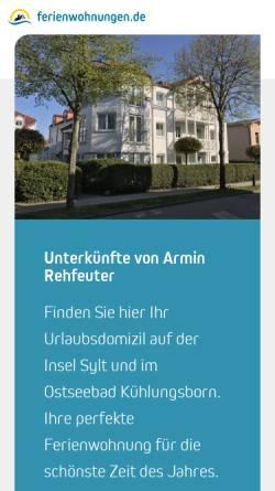 Vorschau der mobilen Webseite www.fewo-seite.de, Ferienwohnungen Rehfeuter