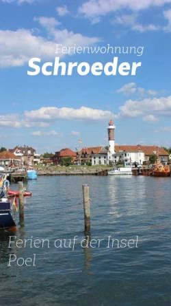Vorschau der mobilen Webseite www.webfewo.de, Ferienwohnungen Schroeder