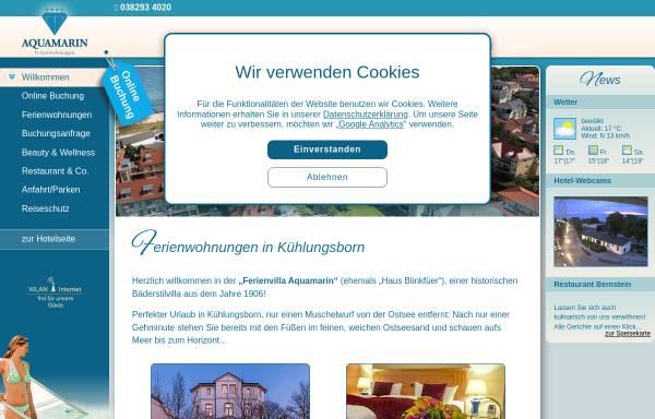 Vorschau von www.hausblinkfuer.de, Ferienwohnungen im Haus Blinkfüer