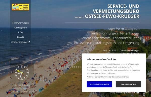 Vorschau von www.ostsee-fewo-krueger.de, Ostsee-FeWo-Krueger