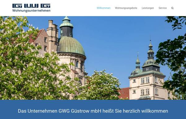 Vorschau von www.gwg-wohnungsunternehmen.de, GWG Gesellschaft für Wohnungsbau mbH