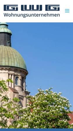 Vorschau der mobilen Webseite www.gwg-wohnungsunternehmen.de, GWG Gesellschaft für Wohnungsbau mbH