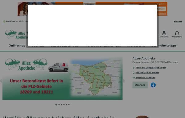 Vorschau von www.alleeapo.de, Allee Apotheke Bad Doberan