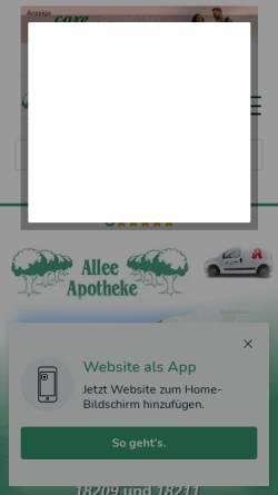 Vorschau der mobilen Webseite www.alleeapo.de, Allee Apotheke Bad Doberan