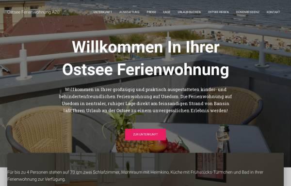 Vorschau von www.ostsee-bansin.de, Ferienwohnung Ihle in der Dünenresidenz