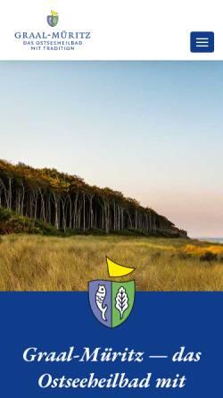 Vorschau der mobilen Webseite www.graal-mueritz.de, Ostseeheilbad Graal-Müritz