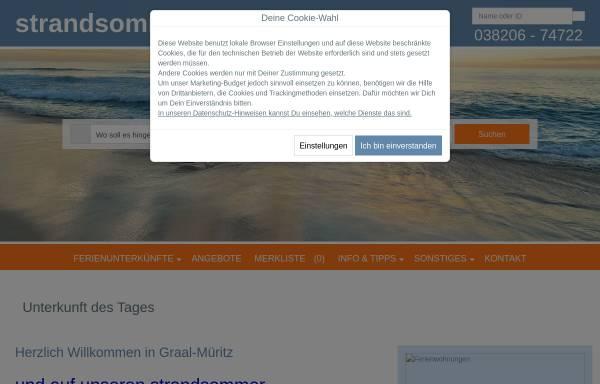 Vorschau von www.strandsommer.de, strandsommer Immobilien GbR
