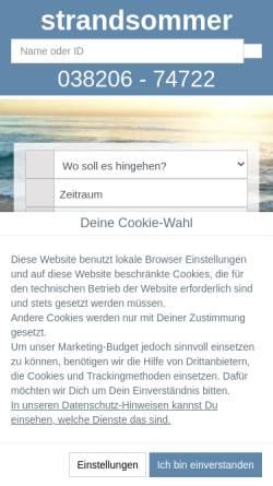 Vorschau der mobilen Webseite www.strandsommer.de, strandsommer Immobilien GbR