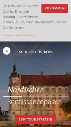 Vorschau der mobilen Webseite www.schloss-guestrow.de, Schloss Güstrow