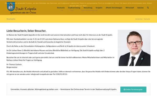 Vorschau von www.stadt-kroepelin.de, Stadt Kröpelin