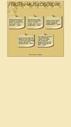 Vorschau der mobilen Webseite www.ferienhauskoserow.de, Ferienhaus Schumacher