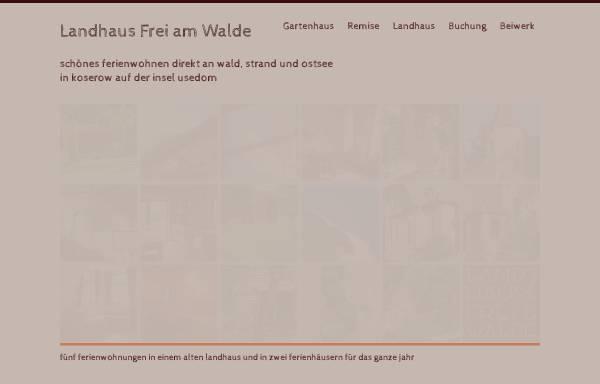 Vorschau von www.freiamwalde.de, Ferienwohnungen im Landhaus Frei Am Walde