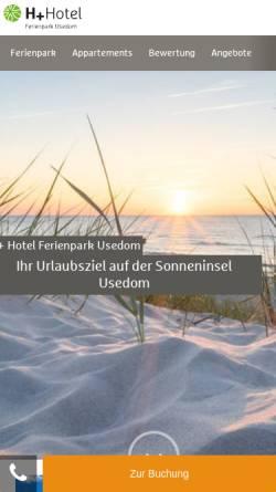 Vorschau der mobilen Webseite www.ferienparkusedom.eu, Treff-Ferienpark Usedom