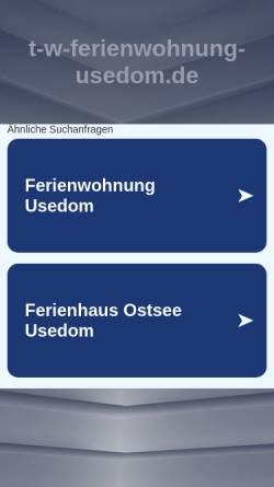 Vorschau der mobilen Webseite www.t-w-ferienwohnung-usedom.de, Ferienwohnung Meyer