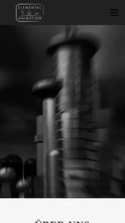 Vorschau der mobilen Webseite www.elemental-animation.de, A&O MULTIMEDIA GmbH