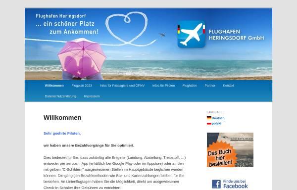 Vorschau von www.flughafen-heringsdorf.de, Flughafen Heringsdorf GmbH