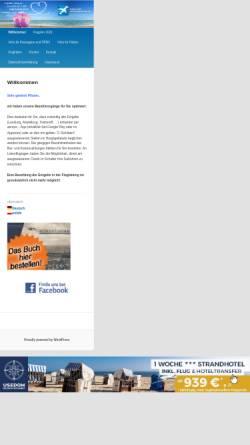 Vorschau der mobilen Webseite www.flughafen-heringsdorf.de, Flughafen Heringsdorf GmbH