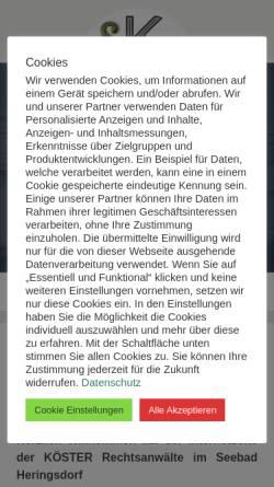 Vorschau der mobilen Webseite www.koester-rechtsanwaelte.de, Köster Rechtsanwälte - Dorit Köster und Tim Köster