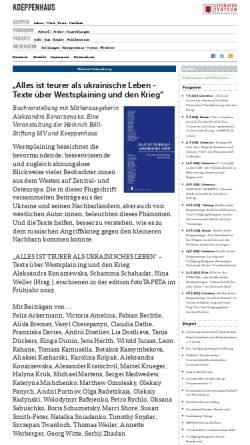 Vorschau der mobilen Webseite www.koeppenhaus.de, Literaturzentrum Vorpommern im Koeppenhaus