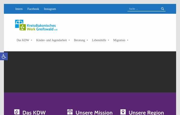 Vorschau von kdw-greifswald.de, Kreisdiakonisches Werk Greifswald-Ostvorpommern e. V.