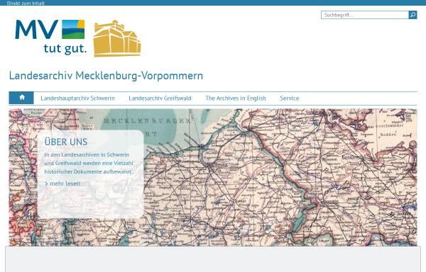 Vorschau von www.kulturwerte-mv.de, Landesarchiv Greifswald