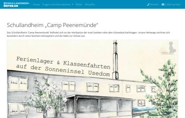 Vorschau von www.usedom-camp.de, Schullandheim Camp Peenemünde
