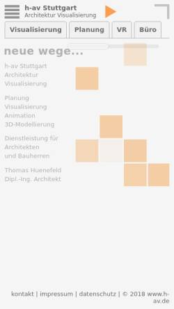 Vorschau der mobilen Webseite www.h-av.de, h-av Stuttgart