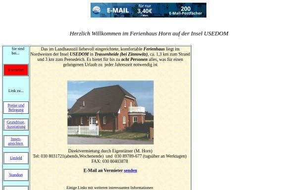 Vorschau von touristik.freepage.de, Ferienhaus Horn