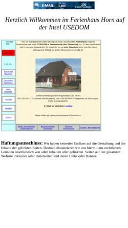 Vorschau der mobilen Webseite touristik.freepage.de, Ferienhaus Horn