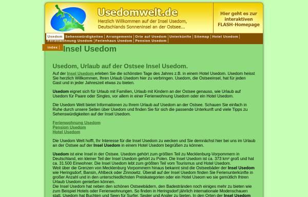 Vorschau von www.usedomwelt.de, Ferienunterkünfte bei Usedomwelt.de