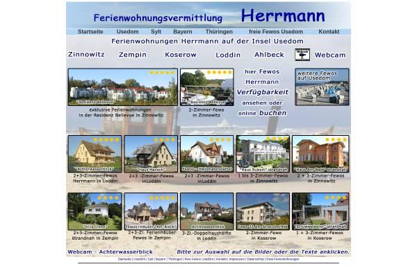 Vorschau von www.fewo-usedom.cc, Ferienwohnungen Herrmann + Herrmann GmbH