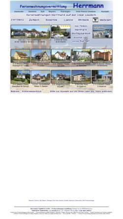 Vorschau der mobilen Webseite www.fewo-usedom.cc, Ferienwohnungen Herrmann + Herrmann GmbH