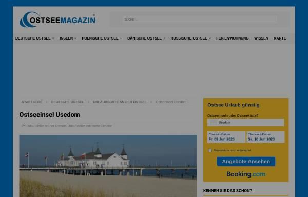 Vorschau von www.insel-usedom-urlaub.de, Urlaubsunterkünfte-Verzeichnis; Inhaber: David Teichert
