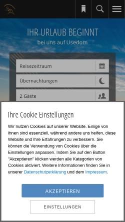 Vorschau der mobilen Webseite www.usedomtravel.de, Usedom Travel