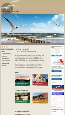 Vorschau der mobilen Webseite www.usedom-touristik.de, Usedom-Touristik