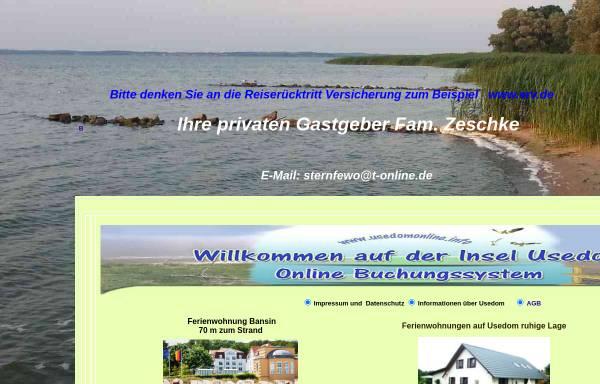 Vorschau von www.usedom-usedom.de, Zimmervermittlung Zeschke