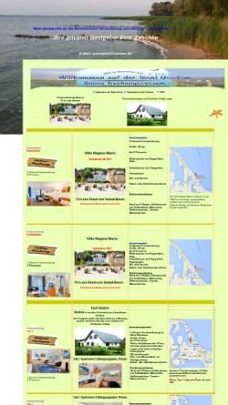 Vorschau der mobilen Webseite www.usedom-usedom.de, Zimmervermittlung Zeschke