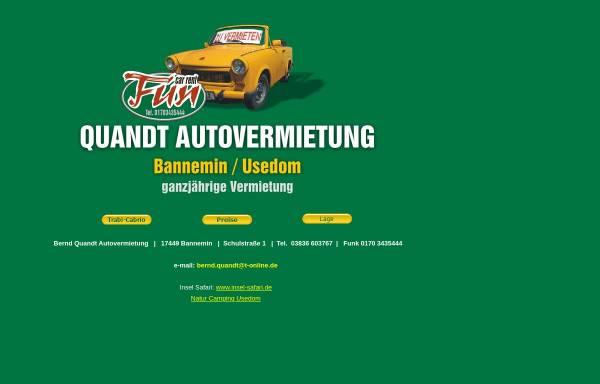 Vorschau von www.trabimieten.de, Bernd Quandt Autovermietung