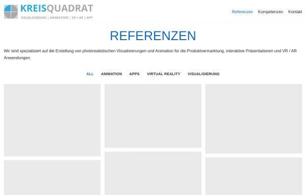 Vorschau von www.kreisquadrat.de, Kreisquadrat -Visualisierung Internet Architektur